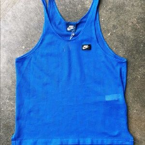 Blue 1980's mesh Nike tank top